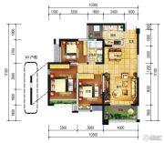 远大中央公园3室2厅1卫96--107平方米户型图