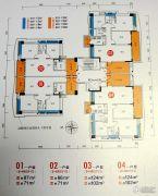 畔山四季公馆2室2厅1卫86平方米户型图