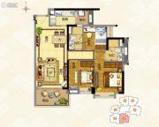 奥园誉�o3室2厅2卫94平方米户型图