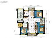广达公馆3室2厅1卫119平方米户型图