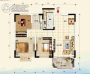 江畔大地3室2厅1卫96平方米户型图