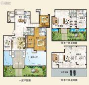 中建观湖国际3室2厅2卫142平方米户型图