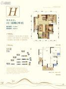 荣安林语春风3室2厅1卫0平方米户型图
