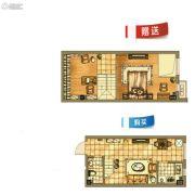 碧桂园银亿・大城印象1室1厅1卫43平方米户型图