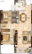 太一格2室2厅1卫87平方米户型图