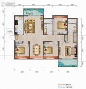 中城悦城4室2厅2卫150--152平方米户型图