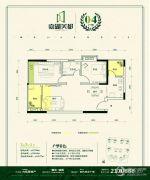 嘉湖美都3室2厅1卫68--108平方米户型图