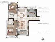 香榭一品3室2厅2卫116平方米户型图