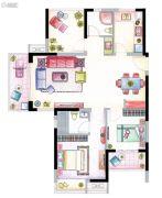 南山维拉3室2厅2卫111平方米户型图
