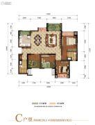 富力湾2室2厅2卫88--101平方米户型图