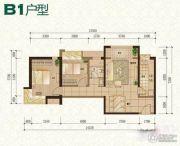 普天格兰绿都2室2厅1卫89平方米户型图