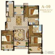 恒辉假日广场3室2厅2卫117平方米户型图
