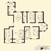 花香漫城4室3厅2卫185平方米户型图