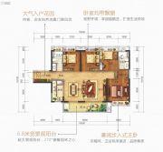 美的公园天下4室2厅2卫130平方米户型图