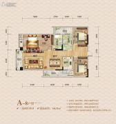 华鹏・中央公园3室2厅2卫146平方米户型图