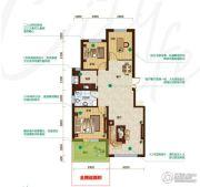 昂展公园里3室2厅1卫107平方米户型图