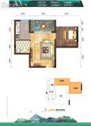 枕泉翠谷1室1厅1卫0平方米户型图