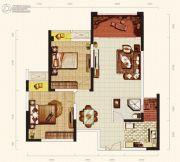 天成郦湖国际社区2室2厅1卫72平方米户型图