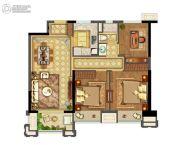 实地玫瑰庄园2室2厅1卫95平方米户型图