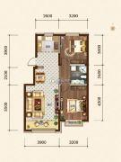 希望依山郡2室2厅1卫86--88平方米户型图