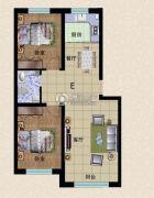 东方俪城2室2厅2卫87平方米户型图
