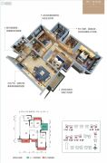 荣和・公园里4室2厅2卫96平方米户型图