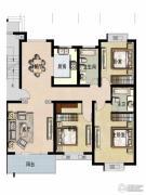 福宇凤凰华庭3室2厅2卫142平方米户型图