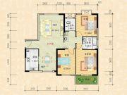 科特・明日华府二期3室2厅2卫136平方米户型图