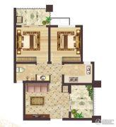 神农架龙降坪国际生态旅游度假区2室1厅1卫57平方米户型图