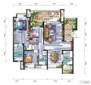 新鸿基悦城3室2厅2卫157平方米户型图