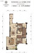 富国高银3室2厅3卫0平方米户型图