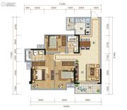 保利心语3室2厅2卫103平方米户型图