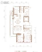 融创信达・政务壹号4室2厅2卫139平方米户型图