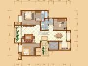 昆河壹号3室2厅2卫110平方米户型图