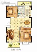 苏建花园城2室2厅1卫111平方米户型图
