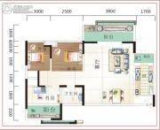 诚易佳和时代3室2厅1卫89平方米户型图