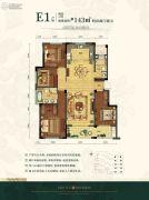 旭辉�B悦府4室2厅2卫0平方米户型图