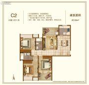 鼓楼广场3室2厅2卫133平方米户型图