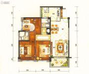 碧桂园半山龙庭3室2厅2卫100平方米户型图