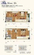 西部人才产业园2室2厅2卫39平方米户型图