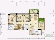 雅居乐十里花巷4室2厅2卫142平方米户型图
