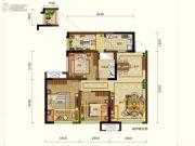 润扬观澜鹭岛3室2厅1卫70平方米户型图