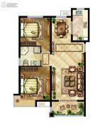 中国铁建原香漫谷2室2厅2卫0平方米户型图
