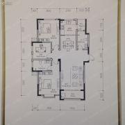 联科龙园2室2厅2卫93--98平方米户型图