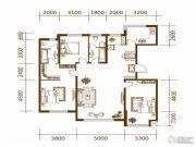 蔚蓝国际2室2厅2卫160平方米户型图