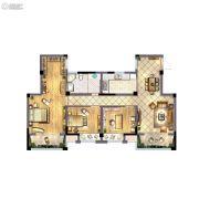 蓝爵庄园3室2厅1卫127平方米户型图