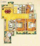 奥体清华苑3室2厅1卫121平方米户型图