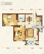 重邦康城2室2厅1卫104平方米户型图