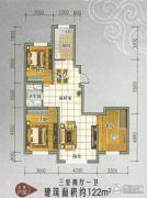 景康名苑3室2厅1卫122平方米户型图