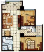 长安公馆2室2厅1卫92平方米户型图